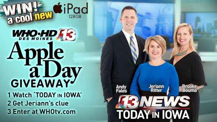 Who Apple A Day Giveaway Channel 13