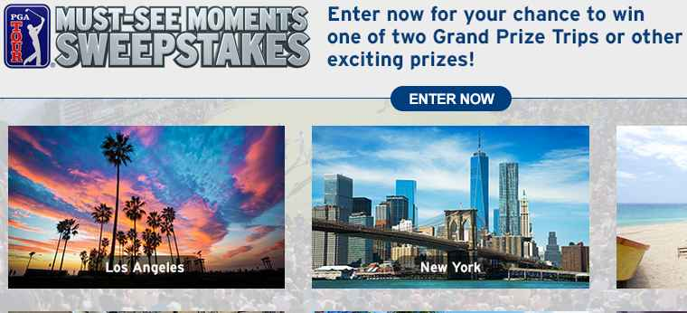 pga tour/must see sweepstakes, PGA TOUR Must See Moments Sweepstakes