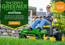 BHG & Deere Your Grass is Greener Sweepstakes