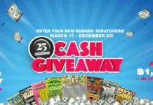 Georgia Lottery 25th Anniversary Cash Giveaway