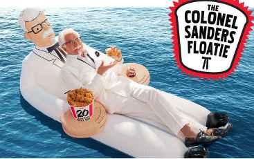 KFC Colonel Sanders Floatie Giveaway