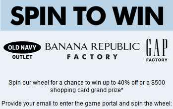 Old Navy Spin Sweepstakes