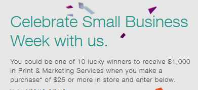 Staples Small Business Week Sweepstakes