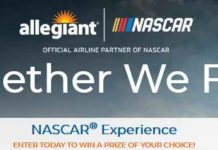 Allegiant Together We Fly NASCAR Experience Sweepstakes