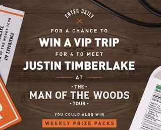 Bai Justin Timberlake Concert Getaway Sweepstakes