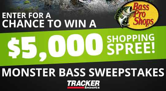 Bass Pro Shops & Outdoor Channel Hunt for Monster Bass Sweepstakes