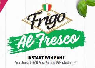 Frigo AL Fresco Instant Win Game Sweepstakes