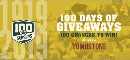 Green Bay Packers 100 Days of Giveaway Sweepstakes