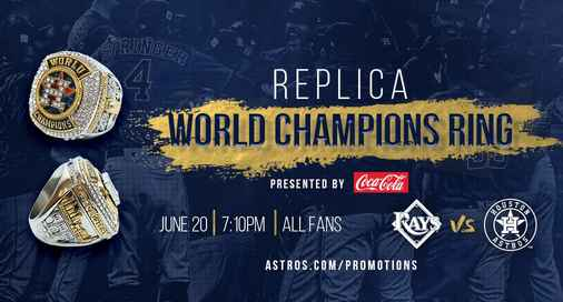 Houston Astros Ring Giveaway 2018