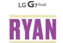 LG G7 ThinQ Ryan Sweepstakes