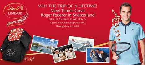 Lindt Meet Roger Federer Sweepstakes