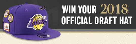 NBA LA Lakers Draft Hat Sweepstakes