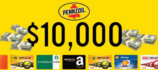 Pennzoil Spin to Win Sweepstakes (Pennzoil.com/spin)