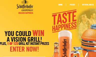 Schofferhofer Grapefruit Taste Happiness Sweepstakes