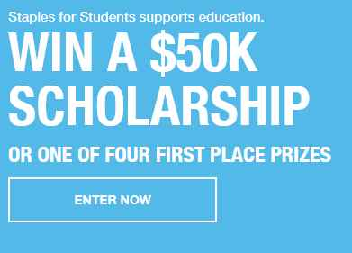 Staples for Students Sweepstakes