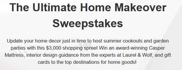Joyus Ultimate Home Makeover Sweepstakes