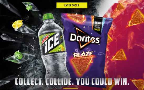 Worlds Collide: MTN DEW ICE and DORITOS Sweepstakes