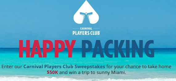 Carnival Players Club Sweepstakes
