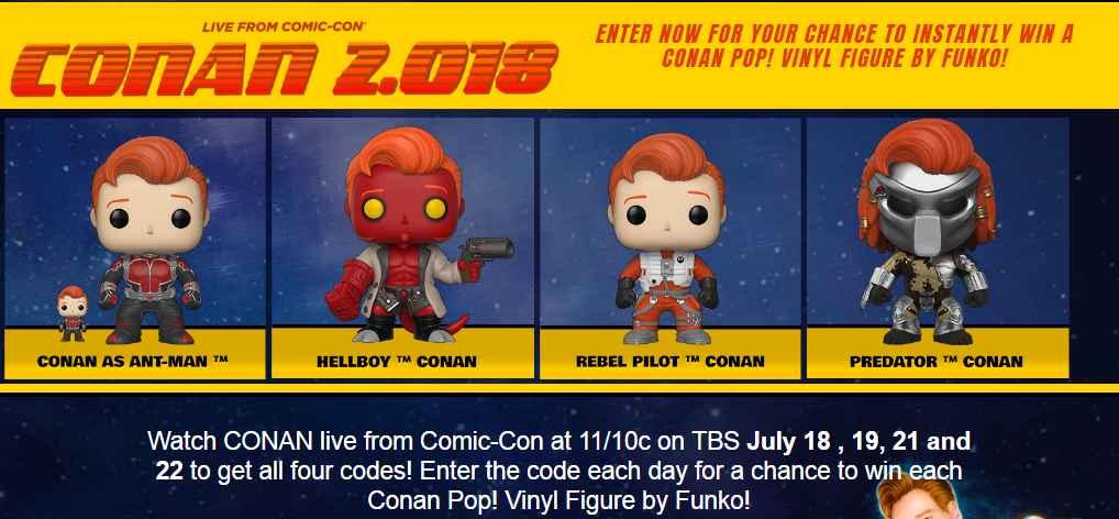 Conan Pop! Figure Giveaway Instant Win Game