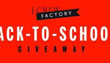 J. Crew Factory Back To School Giveaway