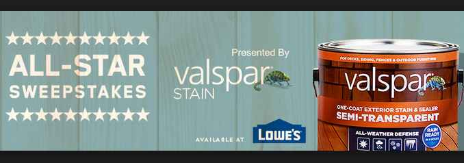 MLB.com Valspar All-Star Sweepstakes