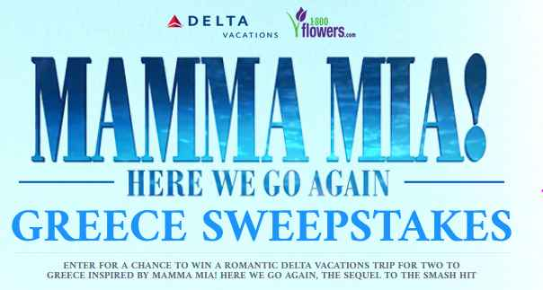 Mamma Mia Here We Go Again Sweepstakes