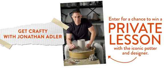 NBC Get Crafty With Jonathan Adler Sweepstakes