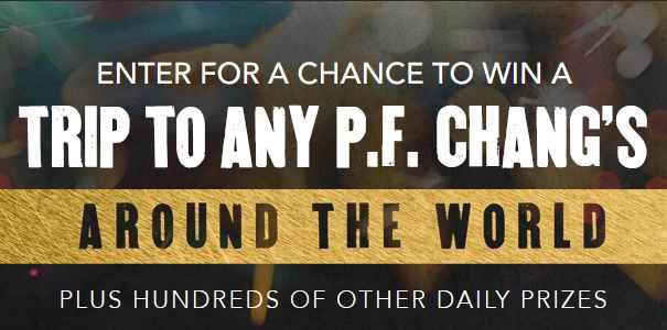 P F  Chang's 25th Birthday Sweepstakes (Pfchangs com/25birthday)