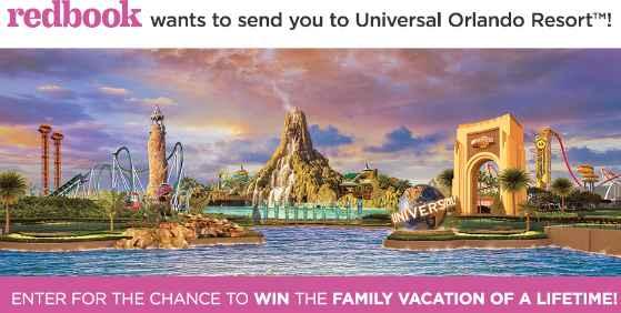 Redbook Universal Orlando Resort Summer Sweepstakes