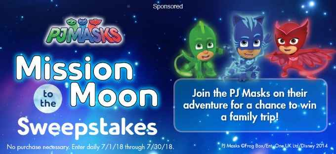 Scholastic PJMasks Mission to the Moon Sweepstakes