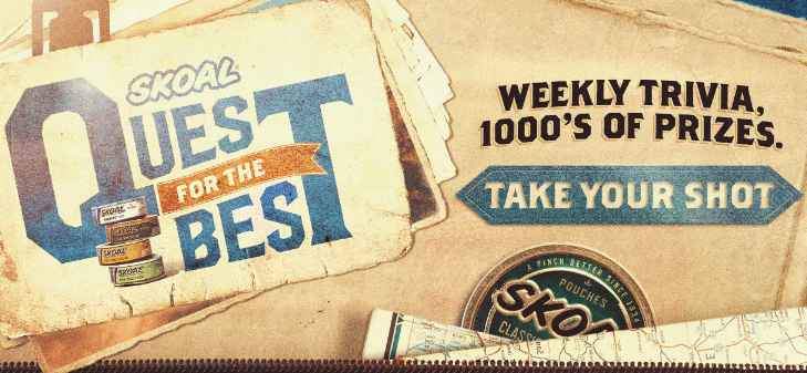 Skoal Quest for the Best Instant Win Game Trivia Answers