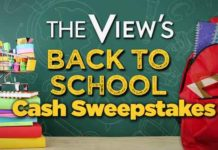 The View Back To School Cash Sweepstakes Giveaway 2018
