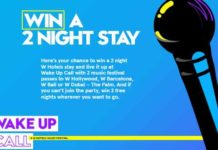 W Hotels The Store Wake Up Call Sweepstakes
