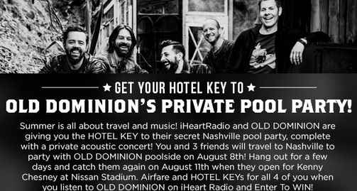 iHeartRadio Old Dominion Pool Party Sweepstakes