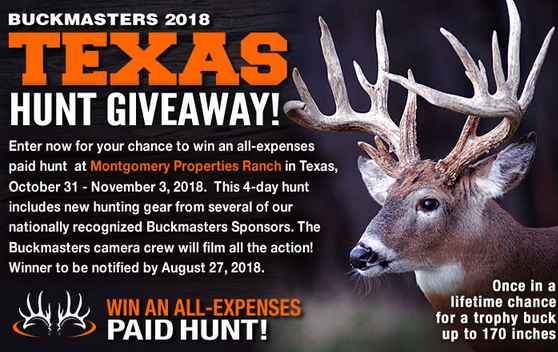 Buckmaster Texas Hunt Giveaway