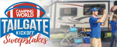Camping World Tailgate Kick Off Sweepstakes