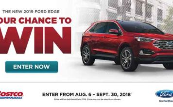Costco You Could Win a 2019 Ford Edge contest