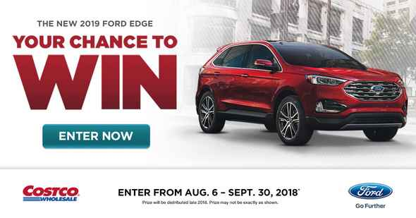 Costco You Could Win a 2019 Ford Edge contest