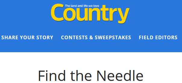 Country Magazine Needle Contest