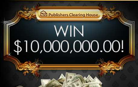 PCH $10 Million Dollar Sweepstakes 2018