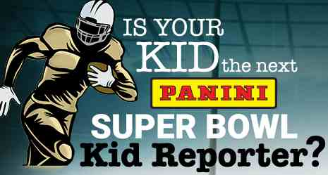 Panini Super Bowl Kid Reporter Sweepstakes Contest 2018