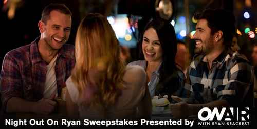 Ryan Seacrest's Night Out On Ryan Sweepstakes