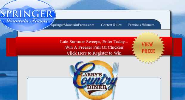 Springer Mountain Farms Chicken Rich Contest