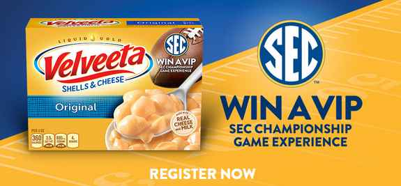Velveeta SEC Instant Win Game and Sweepstakes