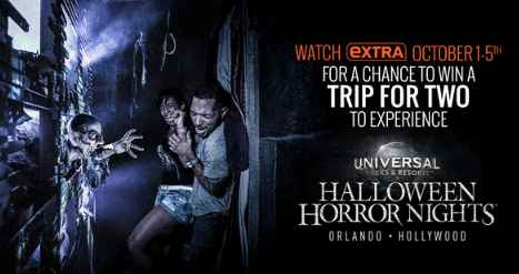 EXTRA TV Universal Studios Halloween Horror Nights Sweepstakes Word Of The Day