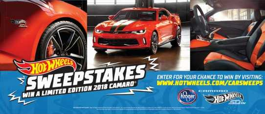 Hot Wheels Kroger Camaro Sweepstakes