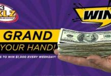 KKLZ Grand In Your Hand Cash Contest Giveaway