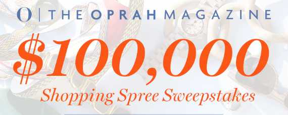 Oprah Shopping Spree Sweepstakes