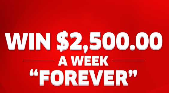 PCH Win $2,500 A Week Forever Sweepstakes