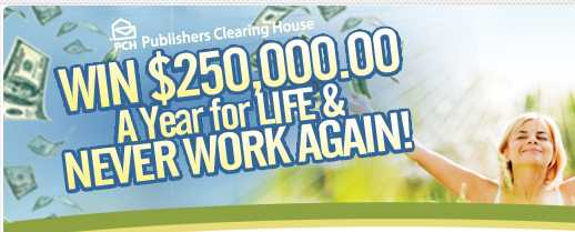 PCH Win $250,000 A Year For Life Sweepstakes 2019 (Fill